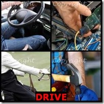 DRIVE- 4 Pics 1 Word Answers 3 Letters