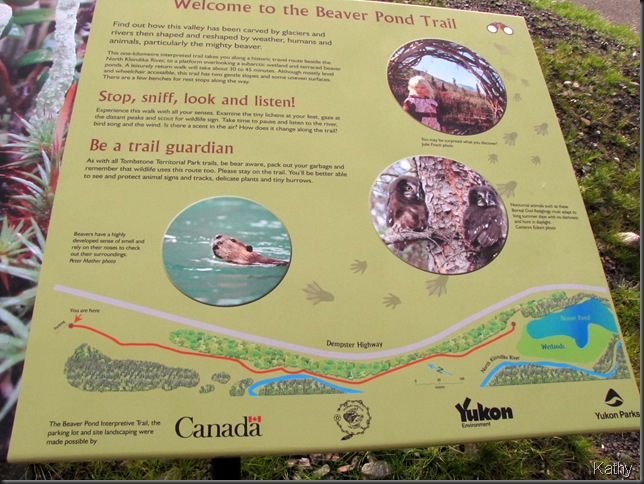 Beaver Pond trail signage
