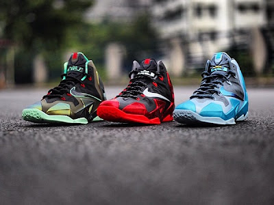 nike lebron 11 gr gamma blue 4 02 Nike LeBron XI Release Dates   October & November Line Up
