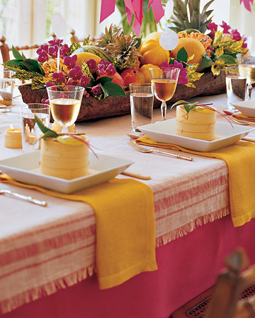 Learn how to make this lovely bright pulled-thread table runner at: