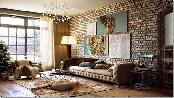COuntry-Inspired-Living-room-with-brick-wall