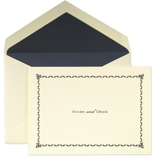 The Martha Stewart Ribbon Framed thank-you notes from Crane & Co. are so charming.