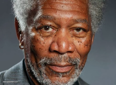 Increíble retrato de Morgan Freeman realizado con app para iPad