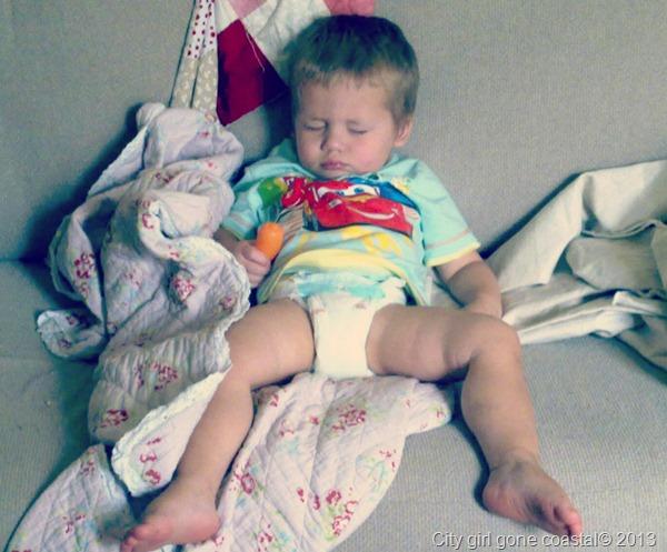 Ahren napping