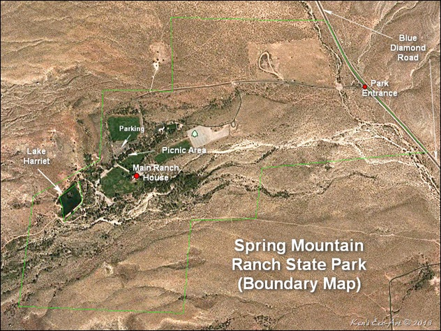 MAP-Spring Mt Ranch State Park Boundary