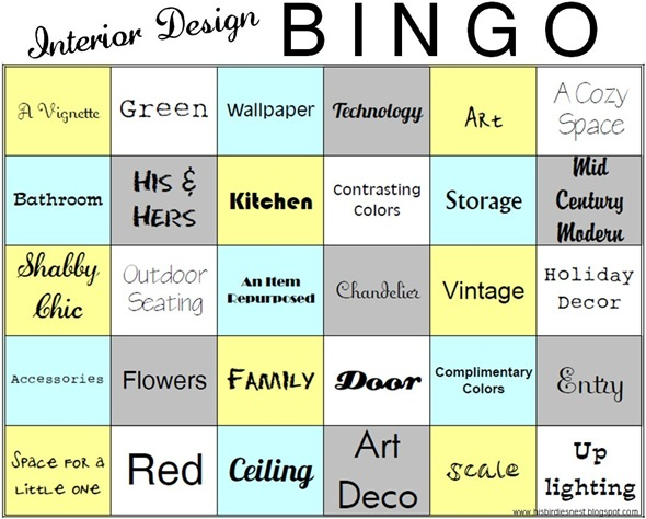 interiordesignBINGO