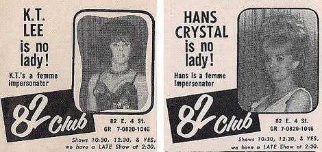 82 Club ads 1966