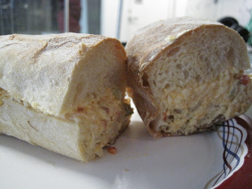 Monty's pimento cheese sandwich.