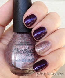Nicole by OPI Here We Kome A-Karoling with All is Glam, All is Bright 5
