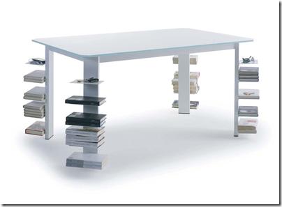 table bibliothèque design