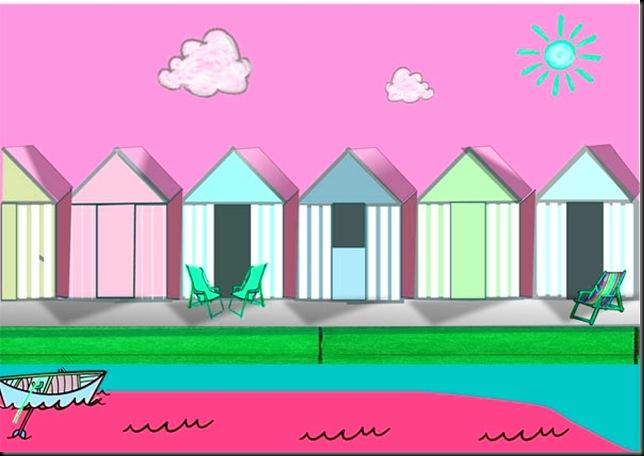 beach-hutsPINK