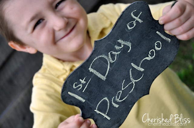 First-Day-of-Preschool chalkboard photo prop