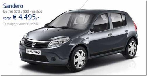 Prijzen 1-7-2012 Dacia Sandero