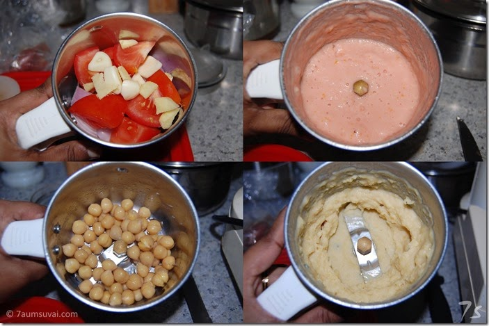 Chickpea curry  process