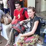 Touristes attendant le bus