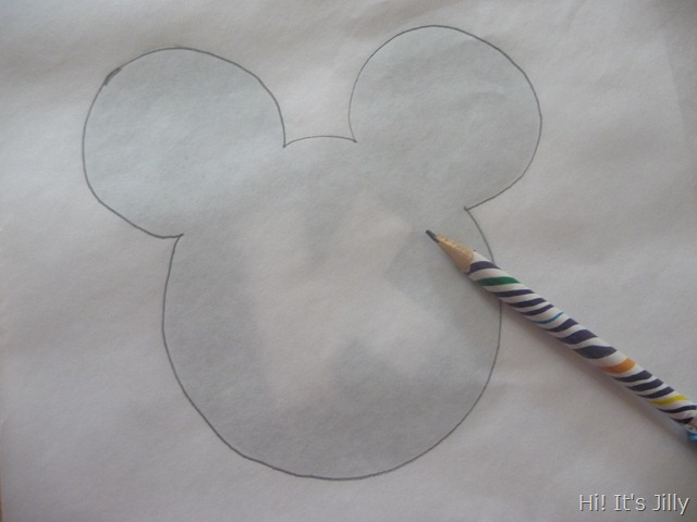 tracing on freezer paper. Personalized Mickey Head Shirts from Hi! It's Jilly