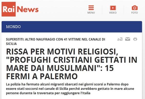 cristanofobia musulmana en lenga italiana