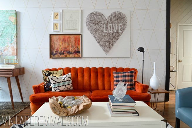 Living Room Makeover Reveal - Vintage Revivals