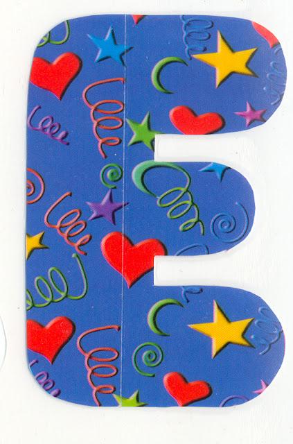 Moldes de letras para imprimir coloridos