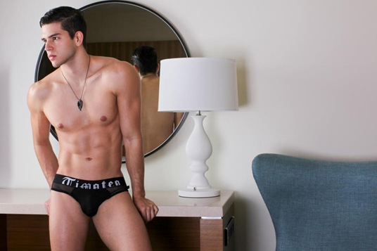 Young Model Wearing Timoteo
