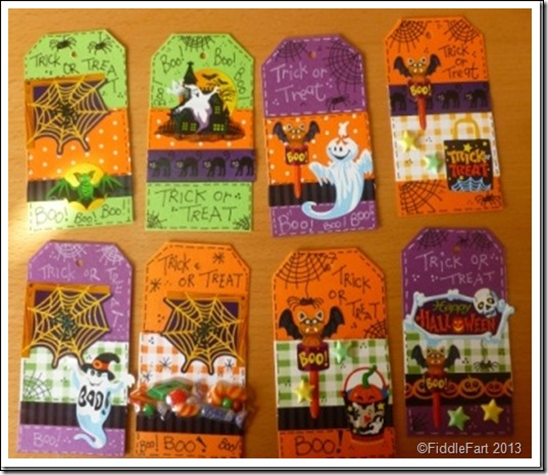 Halloween Trick or Treat Bags with tags. 9