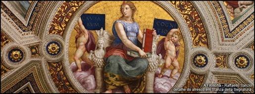 A filosofia, afresco de Raffaello Sanzio