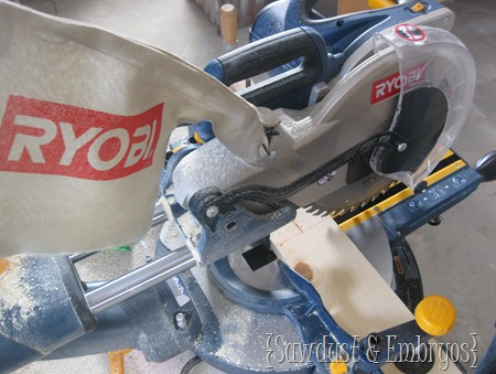 RYOBI Compound Sliding Miter Saw {Crown Molding Tutorial bu Sawdust and Embryos}