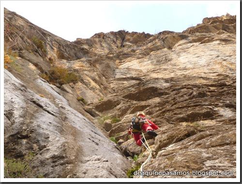 Via Diedro Sajuma 190m 6b  (6a A0 Oblig) (Peña Solano, Escarrilla) (Omar) 0901