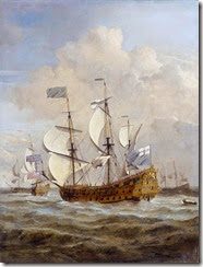 HMS_St_Andrew_at_sea_in_a_moderate_breeze