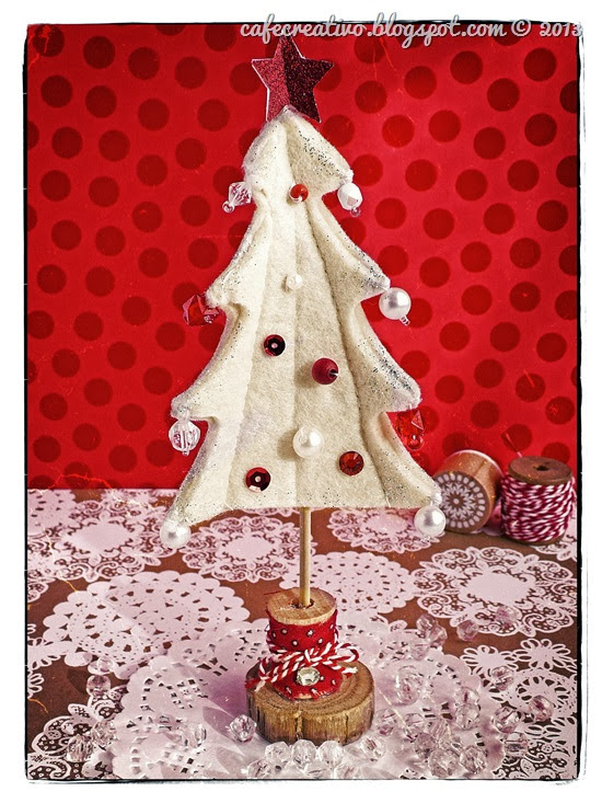 cafe creativo - sizzix big shot - christmas tree - albero di feltro