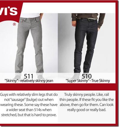 Levi's 511 & 510