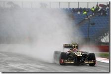 Grosjean nelle prove libere del gran premio di Gran Bretagna 2012