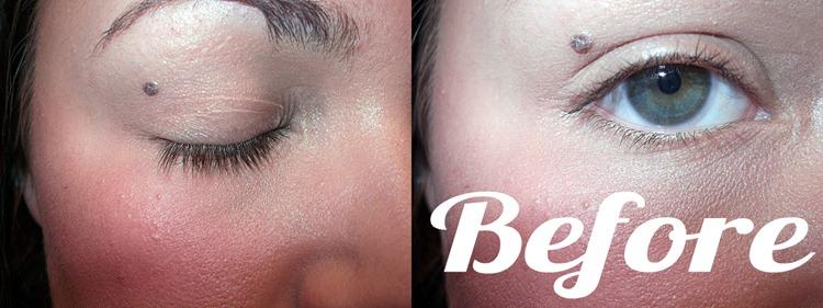 eyelas extensions before