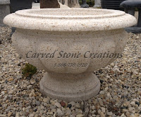 Carved Granite Planter, H16 x D24