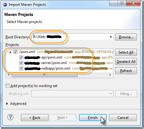 maven-import-projects