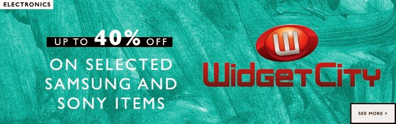 WidgetCity landing page deal