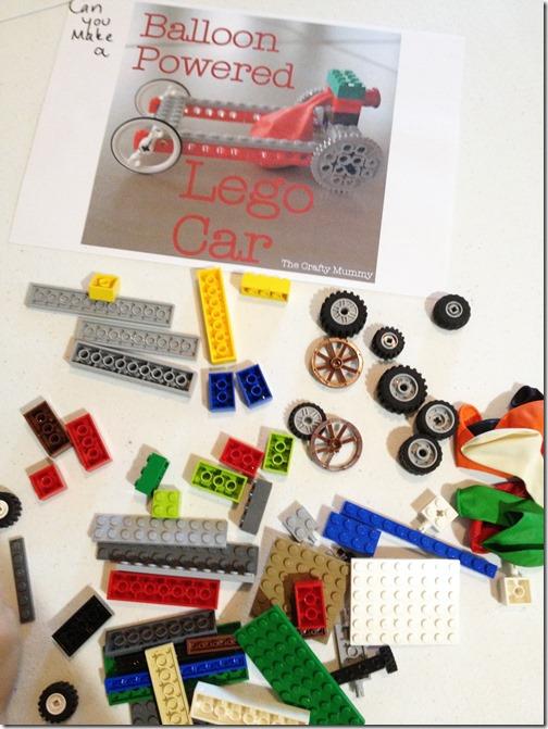 Lego Balloon Car challenge