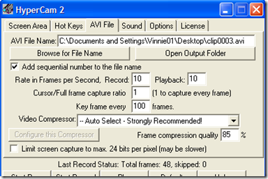 HyperCam 2 AVI File
