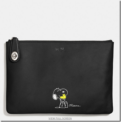 COACH X Peanuts medium folio - USD 150 - silver black