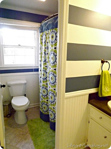 Striped Bathroom Makeover