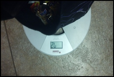 candy weight