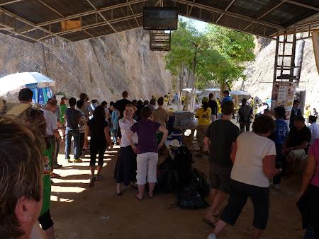 Templul tigrilor Thailanda - la coada la tigri