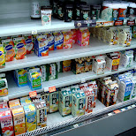 dairy products at family mart in Roppongi, Tokyo, Japan