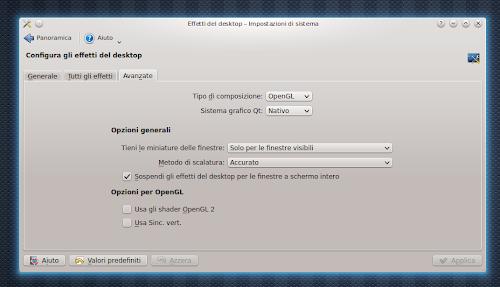 KDE - Sospendi gli effetti del desktop per le finestre a schermo intero