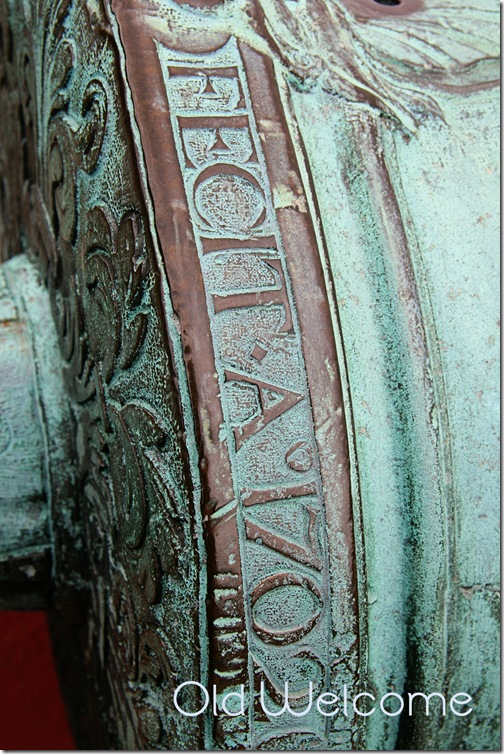 Antique Cannon inscription