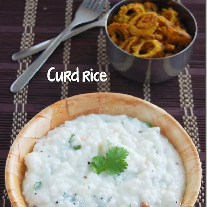 Thayir sadham / Curd rice