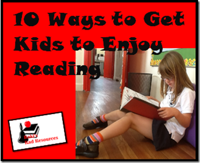 Getting kids to enjoy reading is the most important step to creating life long readers.  Find 10 tips getting kids to enjoy reading.  Heidi Raki of Raki's Rad Resources