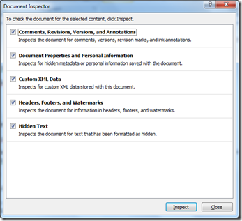 Remove Sensitive or Personal Information From Word Document