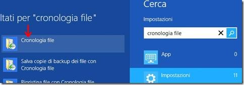 Charm Bar cercare Cronologia file