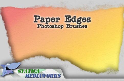 Pinceles de papel con bordes